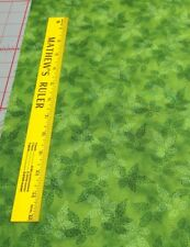 Fusions Col.-Garden-Light & Dark Green Leaves-Kaufman-Green B/G-OOP-1 Yd. 14""