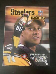 Cedrick Wilson Signed Pittsburgh Steelers Gameday Program 10/16/05 Autographed