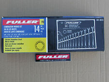 """COMBINATION RING O/E SPANNERS 14Pc A/F WRENCH SET 3/8"""" - 1-1/4 FULLER PRO"""