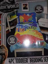 4 pc Jurassic World Microfiber Toddler Bed Set