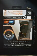 Copper Fit Rapid Relief Knee Hot/Cold Therapy Unisex One Size Adjustable Wrap