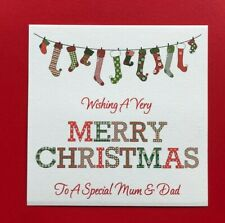 Personalised Handmade Christmas Card - Mum and Dad - OR ANY RELATION OR NAMES