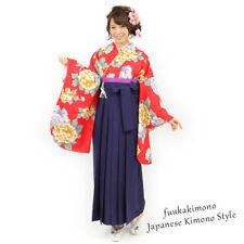 Japanese Hakama Kimono Women Andon Blue- Brand New
