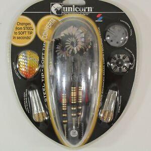 Unicorn CONVERTA 18g Color Enhanced Steel & Soft Tip Darts w Eclipse Case 71519