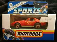 """MATCHBOX MB 28 CORVETTE """"T"""" TOP RED with YELLOW & WHITE DETAILING - NEW in BOX"""