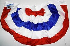 "American Flag Bunting 44"" X 26"" 100% Polyester Grommet's For Hanging"