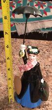 Walt Disney Vintage Mary Poppins Figurine With Umbrella Very Nice