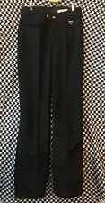 Vtg Mens Racing Black Ski Pant sz 30 Schoeller Switzerland Wool Blend Stirrups