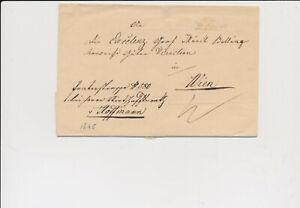 ÖSTERREICH 1845 Brief, SAAZ (B) Mü:75P! Nach WIEN. Schön!