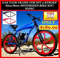 NEW U-MOTO 2-STROKE 66CC/80CC MOTORIZED BIKE GAS TANK FRAME!