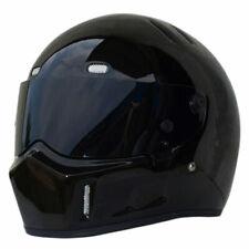 Motorcycle Gloss Black ATV Bike Helmet Full Face for Street Bandit Racing DOT