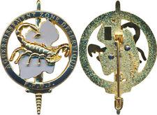 Brevet Aguerrissement en Zone Désertique, F.F.D.J, scorpion doré, Bous. (11119)