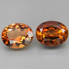 Oval 10x8 mm.PAIR! Ravishing Color Imperial Champagne Topaz Brazil 6.60Ct.