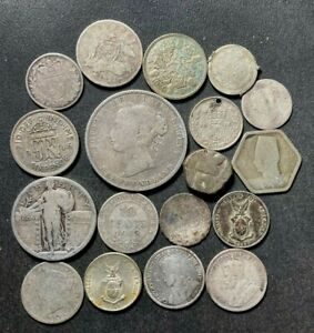 Vintage World Silver Coin Lot - 1700-1946 - 18 Excellent Silver Coins - Lot #A13