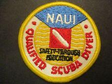 Naui-Qualified Scuba Diver yellow border 3inch boy scout patch