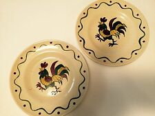 METLOX POPPYTRAIL GREEN ROOSTER CALIFORNIA PROVINCIAL- 2 BREAD AND BUTTER PLATES