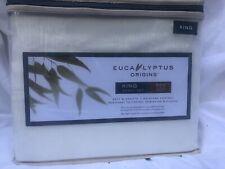 New White Stripe Eucalyptus Sheet Set King Size 500 Thread Count