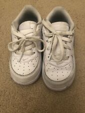 Nike Air Force 1 pelle bianca misura 7.5 Regno Unito Neonato Scarpe da Ginnastica Sneaker