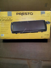 PRESTO COOL TOUCH ELECTRIC GRIDDLE MODEL# 07030/21-693