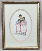 P. Buckley Moss Art Print THREE HEARTS Father Daughters Family Signed 118/1000
