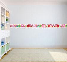 Flower Dot Children's Bedroom Self Adhesive Wallpaper Border Girls Nursery
