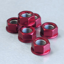 Pro Bolt Aluminium Motorcycle Sprocket Nuts (6 Pack) - Red