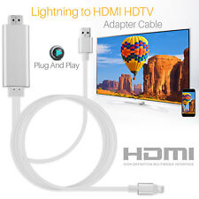 Apple Lightning Connect to HDMI TV AV Cable Adapter for iPhone 8 7 6 iPad Mini