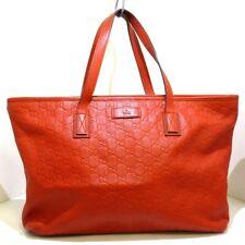 Auth GUCCI Guccissima 211137 Orange Leather Womens Shoulder Bag