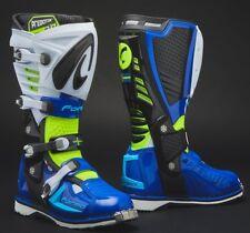 Stivali Boots snodo Moto Cross forma Predator 2.0 Blu Giallo Fluo Yellow Tg 43