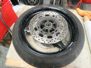 yamaha yzf r1 4xv front wheel complete with discs tyre etc