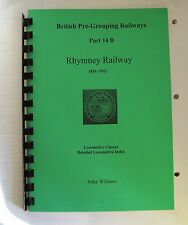 Rhymney Railway Locomotives  Index GWR