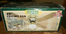 heritage 42 inch ceiling fan 4AXW42AB1S antique brass in the box new