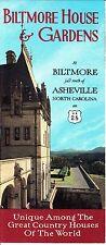 Biltmore House and Gardens near Asheville North Carolina Vintage Brochure