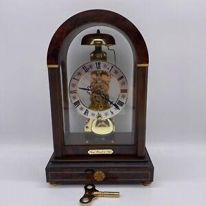 Franz Hermle & Sohn Skeleton Mantle Clock 791-081 Movement 1985 with Key Germany