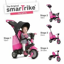 4 Trikes in 1 SmarTrike Stroller Tricycle Trike Ride Swing DLX Smart Trike Pink