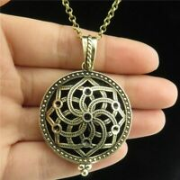 B1Q312 Hollow Necklace Locket Essential Oil Diffuser Aromatherapy Locket Neck…