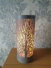 Electric Aroma Lamp Wax Melt Burner Grey Matte Tree Touch Sensitive
