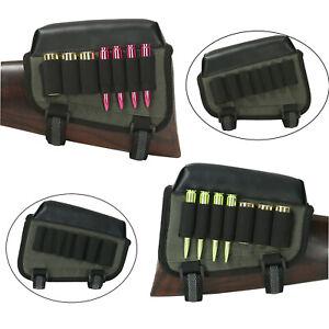 Tourbon Hunting Rifle Shotgun Ammo Holder Cheek Rest Comb Risers Right/Left Hand