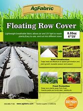 0.55 Oz, 6'x25', Row Cover for Summer Shading and Insect Barrier, Seed Cover