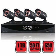 Night Owl F6-81-4624N 8 Channel, 4 X Camera, Video Security System