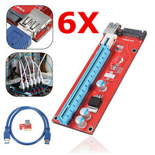 10x Pci-e 1x to 16x Powered USB 3.0 Extender Riser Card for ETH LTC Zcash Zec