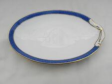 AYNSLEY MERIDIAN BLUE soucoupe petit plateau 20,5 cm x 13,5 cm. excellent.