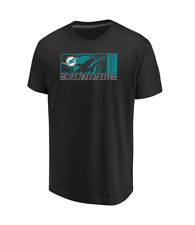 NFL Miami Dolphins Men's Majestic Hook and Ladder T-Shirt - Black