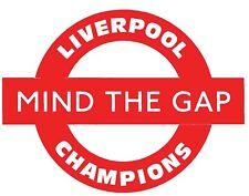 Liverpool LFC 2020 Champions Mind The Gap Decal  Vinyl Sticker Wall Car