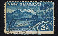 NZ - Sc# 111 Blue 2 1/2D Lake Wakatipu- USED VF