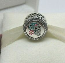 New Pandora BLUE Day of the Dead Sugar Skull Charm ENG792016Z ONLY 1500 MADE!!
