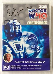 Doctor Who: Earthshock DVD - Hand Signed By Peter Davison