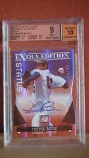 2011 Elite Extra Edition Trevor Bauer Autographed Status Card BGS 9