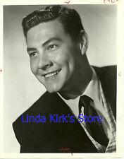 "Johnny Gilbert Promotional Photograph Head Shot ""Music Bingo"" NBC-TV B&W"