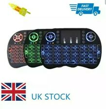 LED Mini Rechargeable Backlit Wireless Keyboard Mini Touchpad For Android TV Box